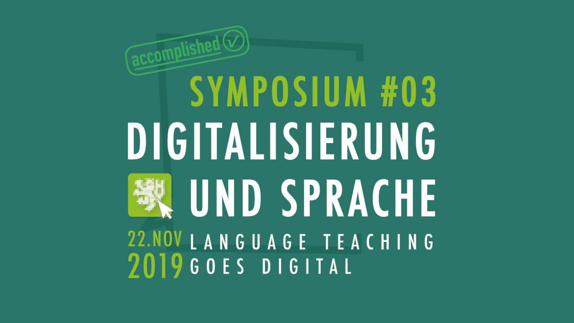 Digitalisierung und Sprache / Language teaching goes digital